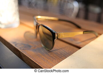Sunglasses. Close up