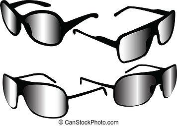 sunglasses collection - vector - illustration of sunglasses...
