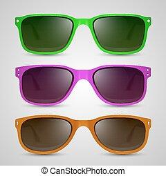 Sunglasses color. Vector - Sunglasses color object. Vector...
