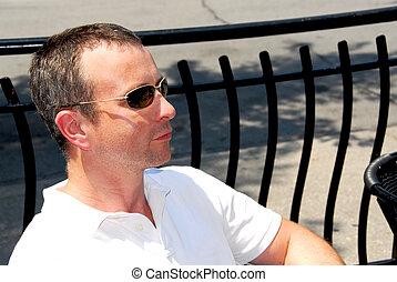 sunglasses, człowiek