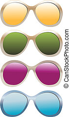 sunglasses illustration color vector collection isolated on...