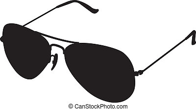 sunglasses glasses silhouette vecto - This image is a vector...