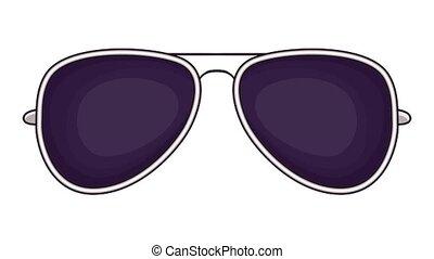 Sunglasses icon animation cartoon best object isolated on white background