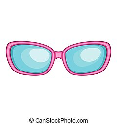 Sunglasses icon, cartoon style
