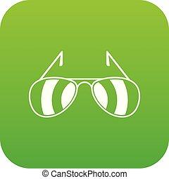 Sunglasses icon digital green