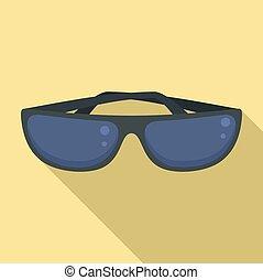 Sunglasses icon, flat style
