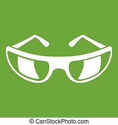 Sunglasses icon green