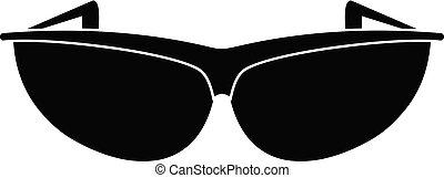 Sunglasses icon, simple style.