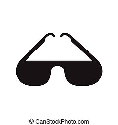 Sunglasses icon, vector illustration
