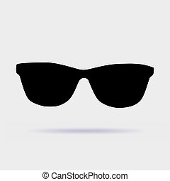 Sunglasses icon vector illustration on gray background