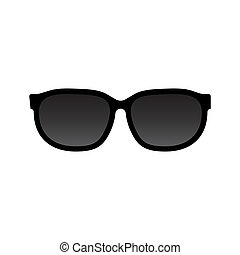 Sunglasses icon vector isolated on white background