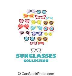 Sunglasses icons background