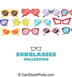 Sunglasses icons background