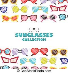 sunglasses, ikony, tło