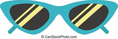 Sunglasses, illustration, vector on white background.