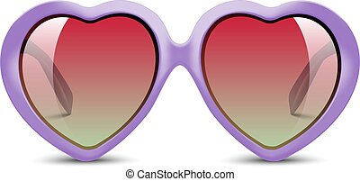 Sunglasses in shape of heart