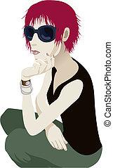 sunglasses, kobieta