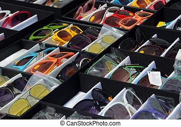 Sunglasses on a market stall