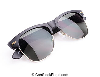 sunglasses on white background