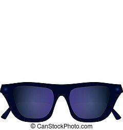 Sunglasses plastic purple with dark glasses vector