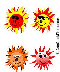 sunglasses, słońce
