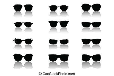 Sunglasses set, vector