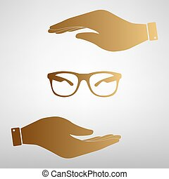Sunglasses sign Golden Effect.