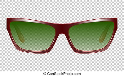 Sunglasses vector realistic illustration on a background