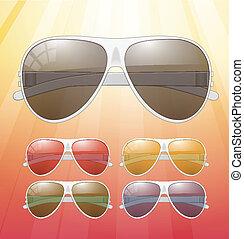 sunglasses., vettore, icone