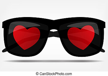 Sunglasses with a heart vector illustration