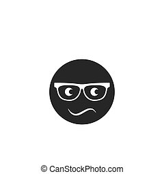 sunglasses with eye   icon vector illustration design