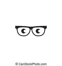 sunglasses with eye  logo icon vector illustration design