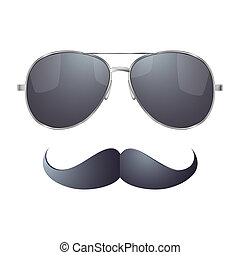 Sunglasses with mustache