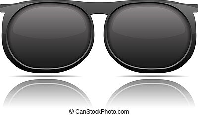 Sunglasses with reflection on white background, vector eps10...