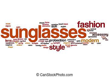 Sunglasses word cloud