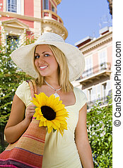 Sunhat and Sunflower
