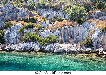 Sunken City Kekova, Antalya, Turkey