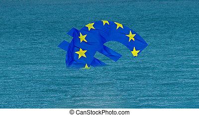 sunken eu - ailing european union sinks