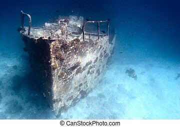 Sunken ship - Ancient sunken ship