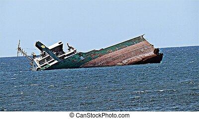 Sunken ship, Crimea