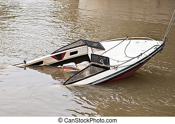 Sunken yacht  - Sunken yacht
