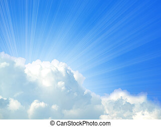 sunlight background with cloud