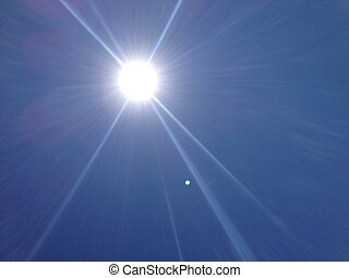 Sunlight glinting rays