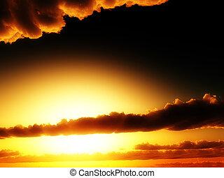 Sunlight In Clouds 3