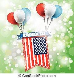Sunlight Memorial Day US-Flag Ribbon