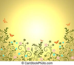 Sunlight on Garden