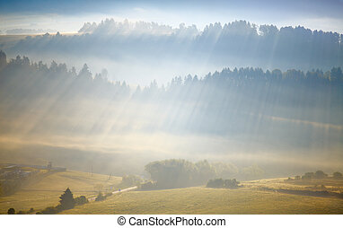 Sunlight rays in Alps - Sunlight rays in Alps field coming...