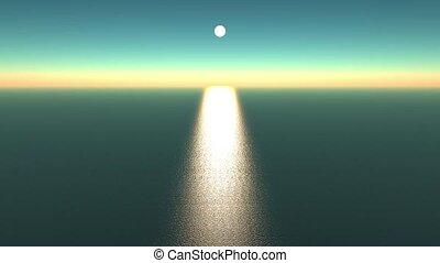 sunlight reflecting on ocean, shine
