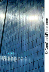 Sunlight reflection on office building