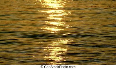 Sunlight Reflection on the Sea